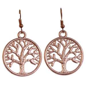 Tree Earrings - Rose Gold