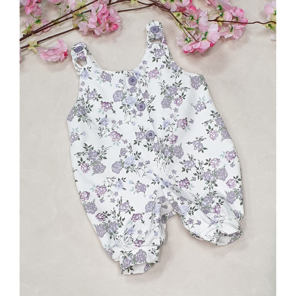 Betty Overalls - White Floral