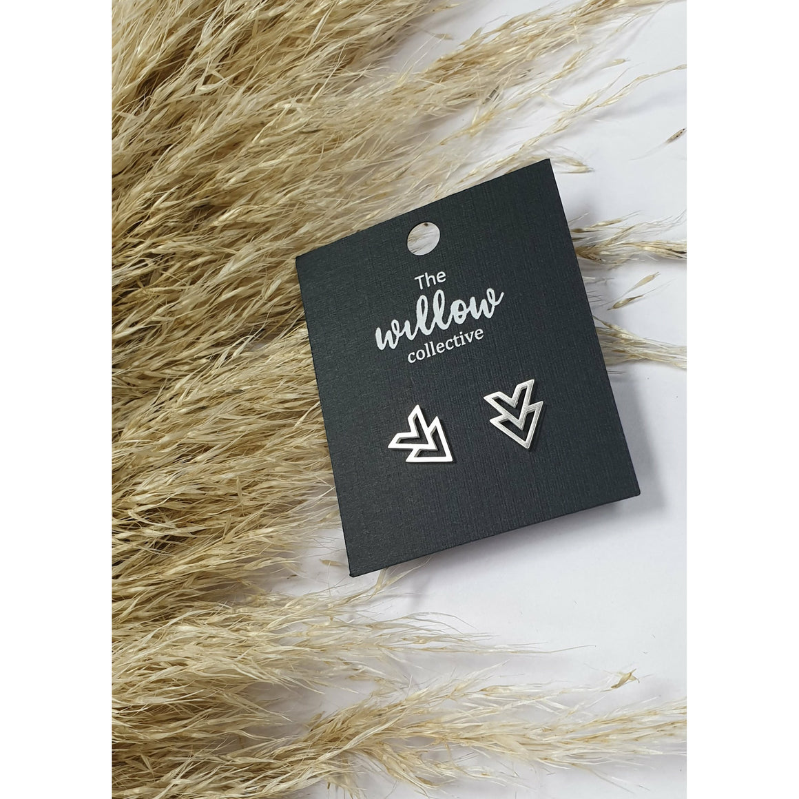 The Willow Collective - Double Chevron Stud Earrings