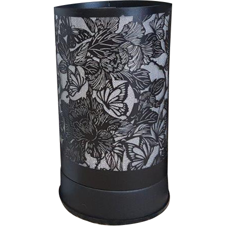 Butterfly and Roses Black Touch lantern