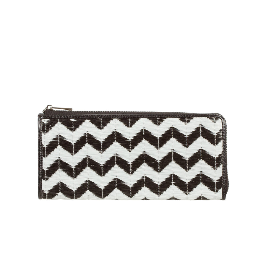 CHEVRON WEAVE XL HALF ZIP LAUREN WALLET