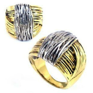 2 TONE GOLD/SILVER STRIPE RING