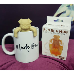 TEA INFUSER PUG IN A MUG