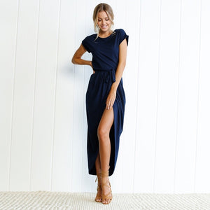 Sandi Tie Dress - Navy