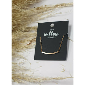 The Willow Collective - Curved Bar Necklace