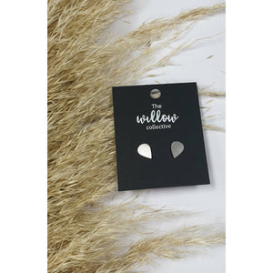 The Willow Collective - Brushed Tear Drop Stud Earrings