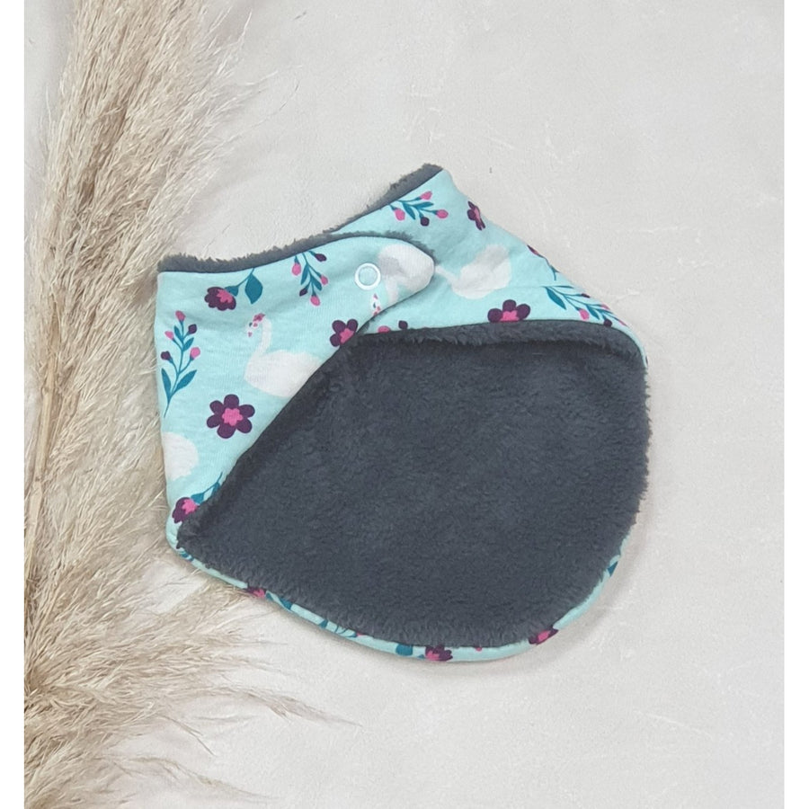 Baby Dribble Bibs - Mint Green w/ White Swan