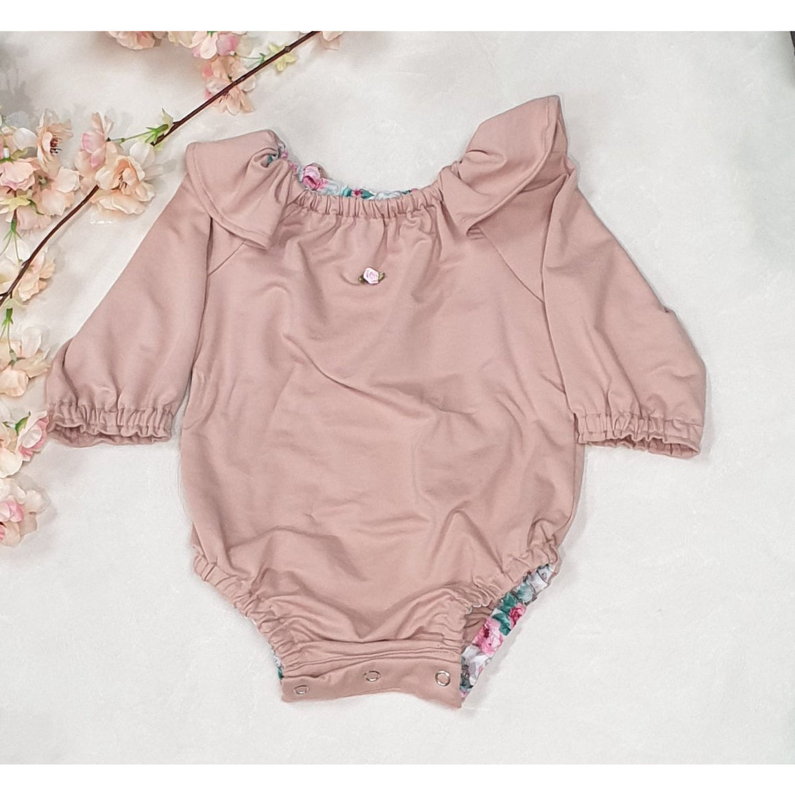 Rose Bodysuit - Dusty Pink