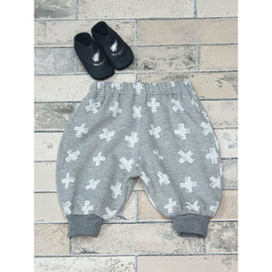 Billie Pants - Grey w/ White Cross's