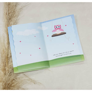 Card - Owl Family in Tree (Baby Girl)
