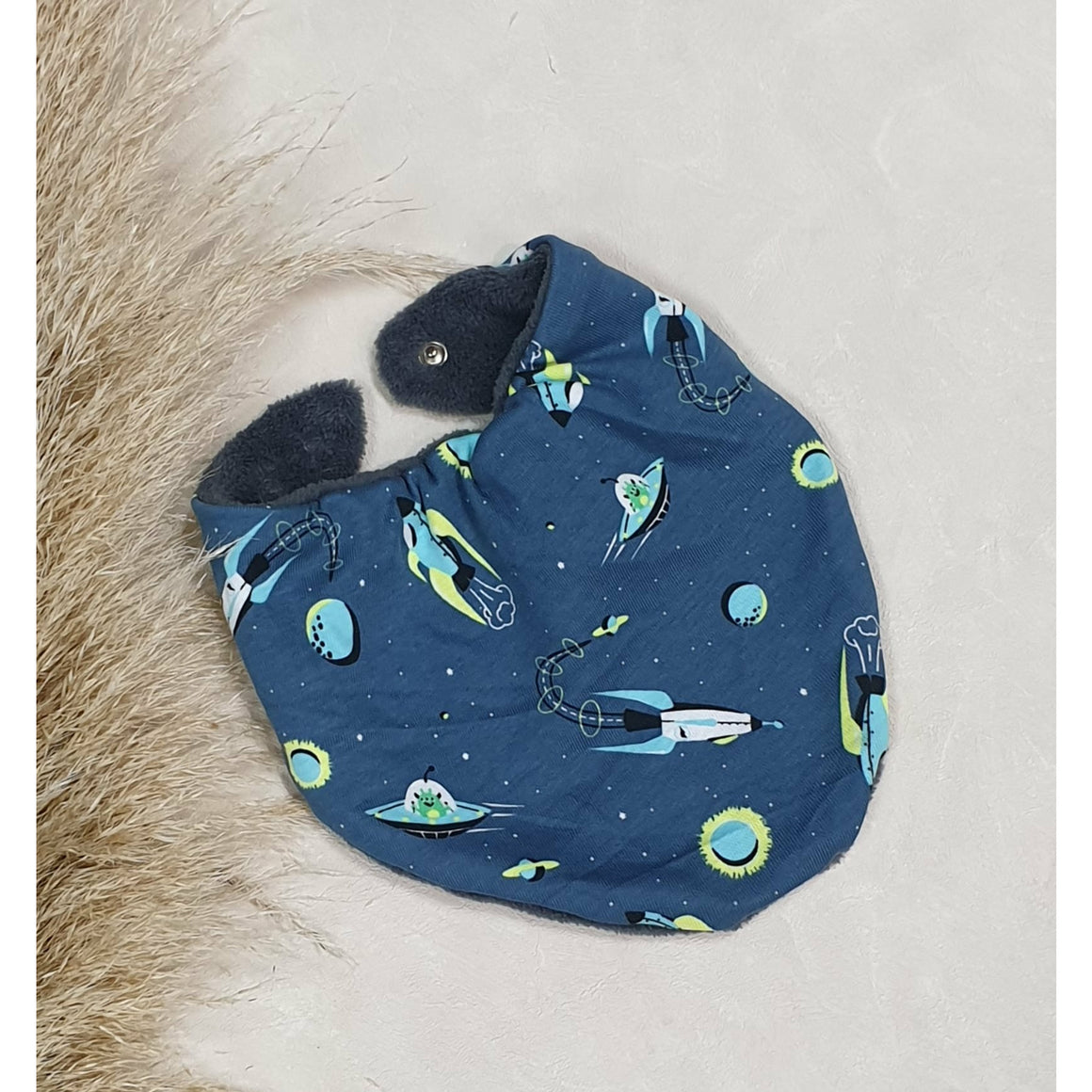 Baby Dribble Bibs - Green Spaceships