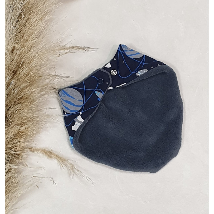 Baby Dribble Bibs - Navy Outer space