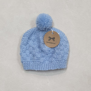 New Born Baby Beanies - Light Blue