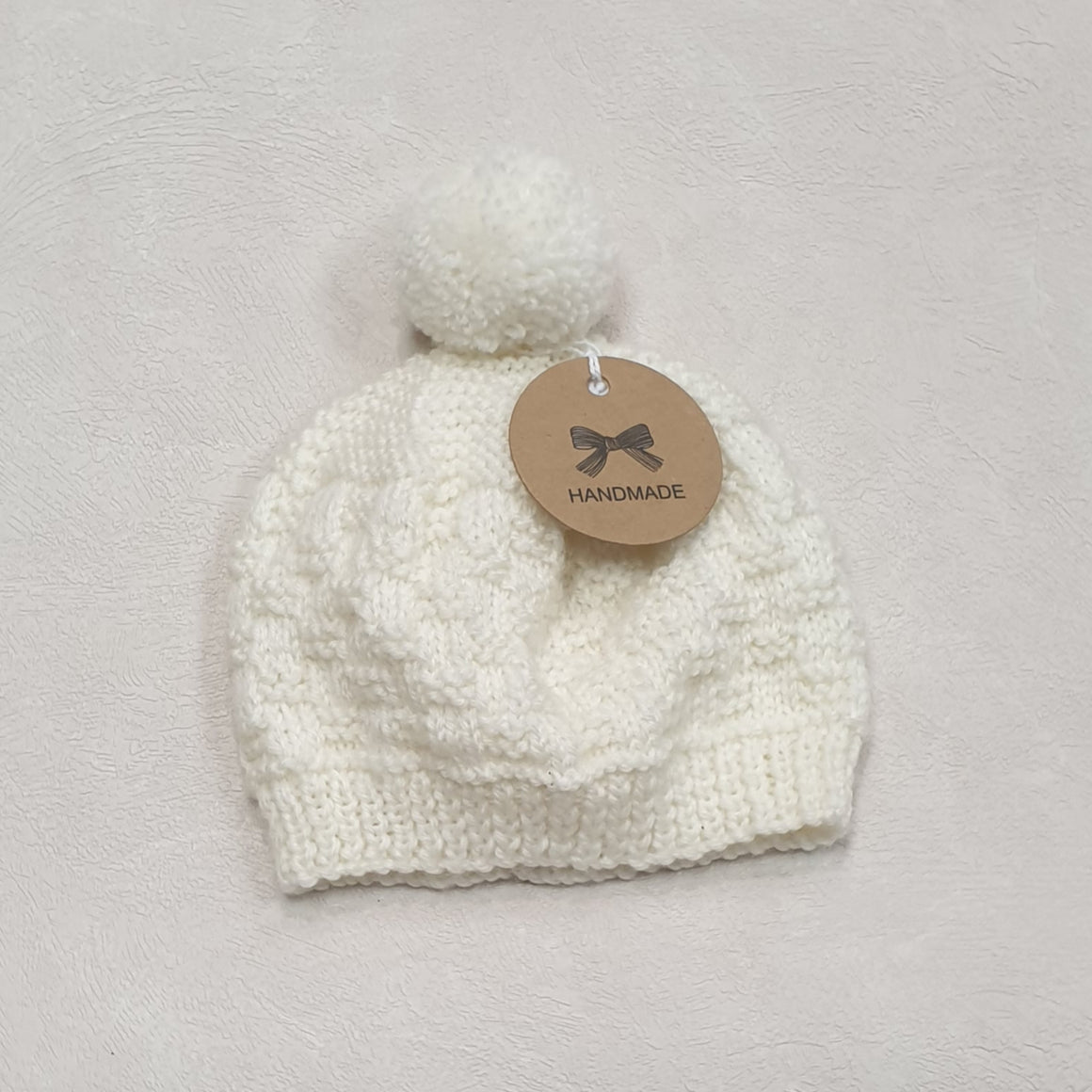 New Born Baby Beanies - Off White