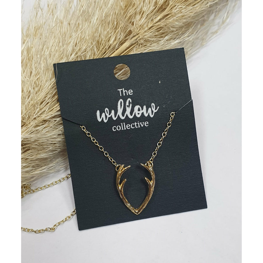 The Willow Collective - Antler Necklace