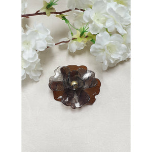 LACE BROOCH BROWN