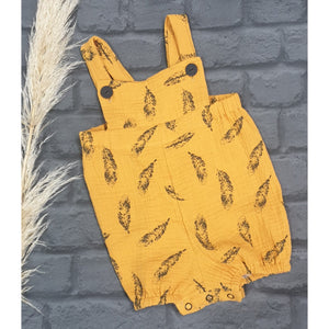 Porter Overalls - Mustard Feather