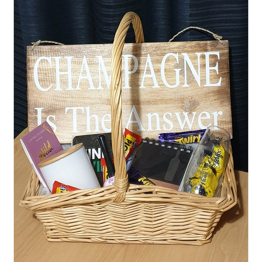 Champagne is the Answer - Gift Basket
