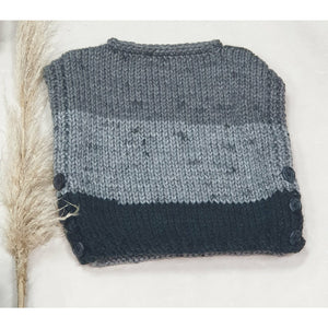KNITWEAR - Multi Grey Pull Over 2-3 Years