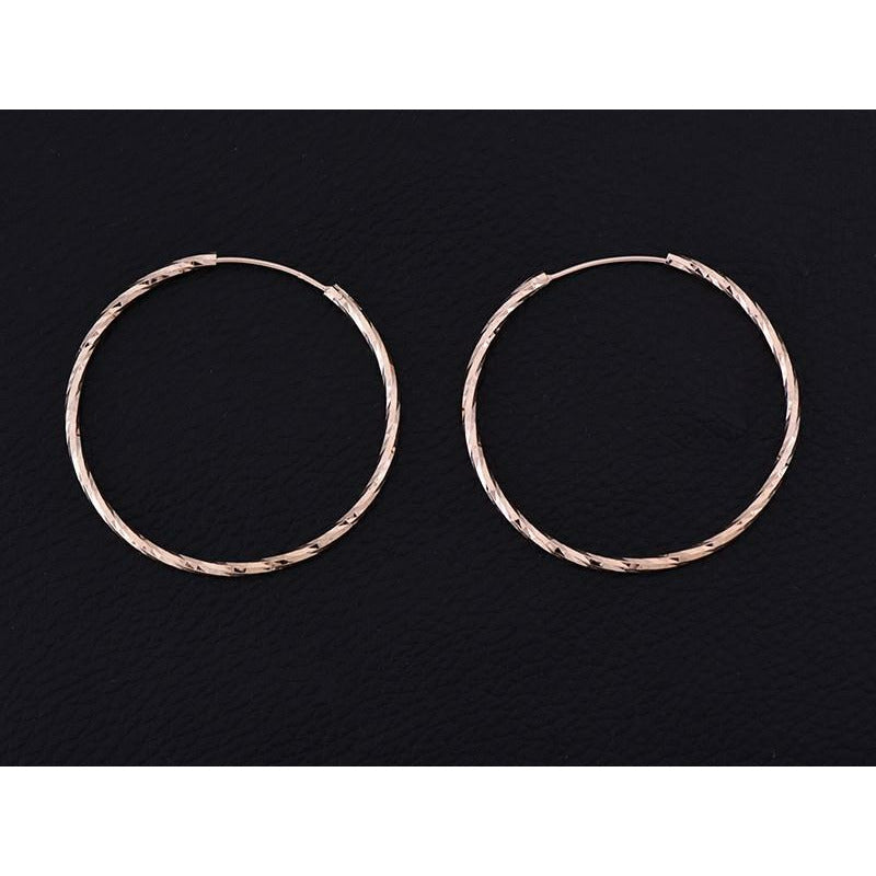 LOOP EARRINGS 925 ROSE GOLD