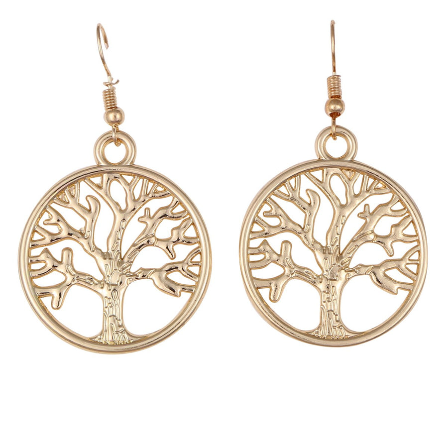 Tree Earrings - Gold