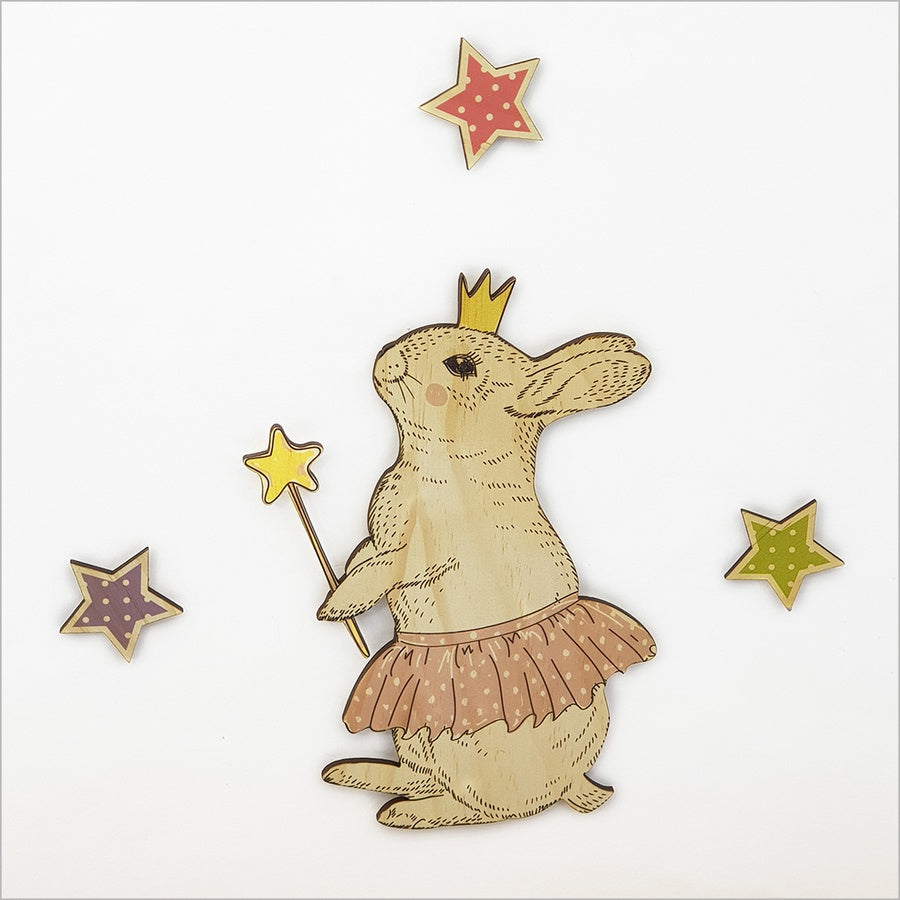 Bunny - Kids Pine Wall Art