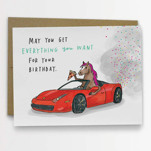 Card - Pony Ferrari Birthday