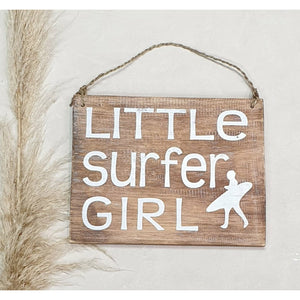"""Little Surfer Girl"" Wooden sign"