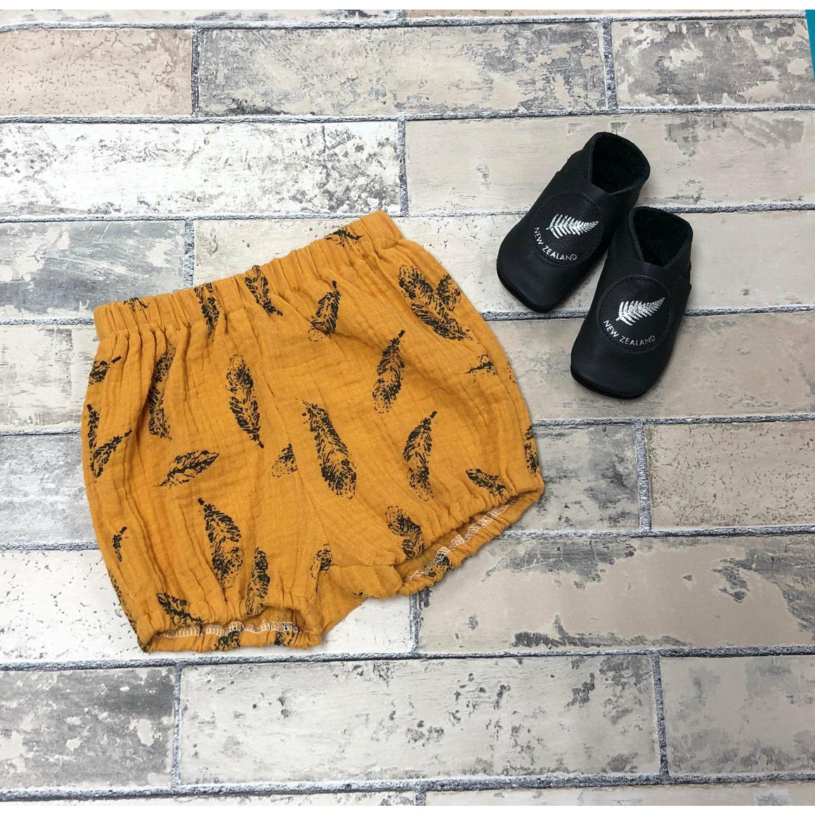 Cooper Shorts - Mustard Feather