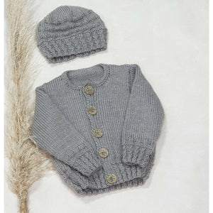 Knitwear - Light Brown Cable Ribbed Cardie 6-9 Months
