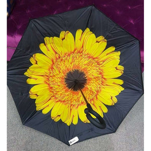Inside Out Umbrella - Yellow Sunflower