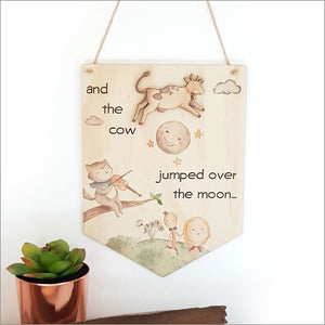 Pine Flag Wall Art - Over the Moon