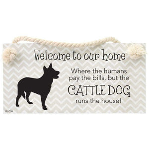 Precious Pets Hanging Sign -CATTLE DOG