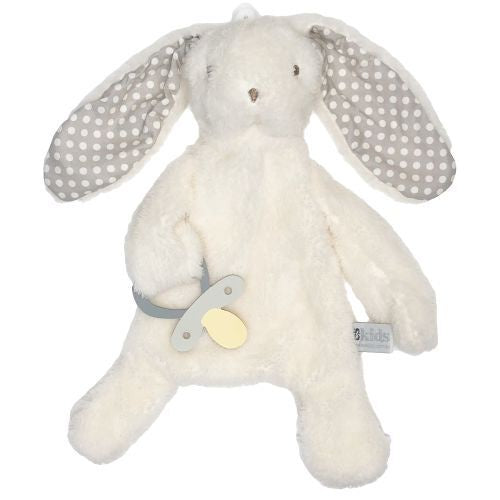 Bunny Comforter with Dummy Holder - Grey