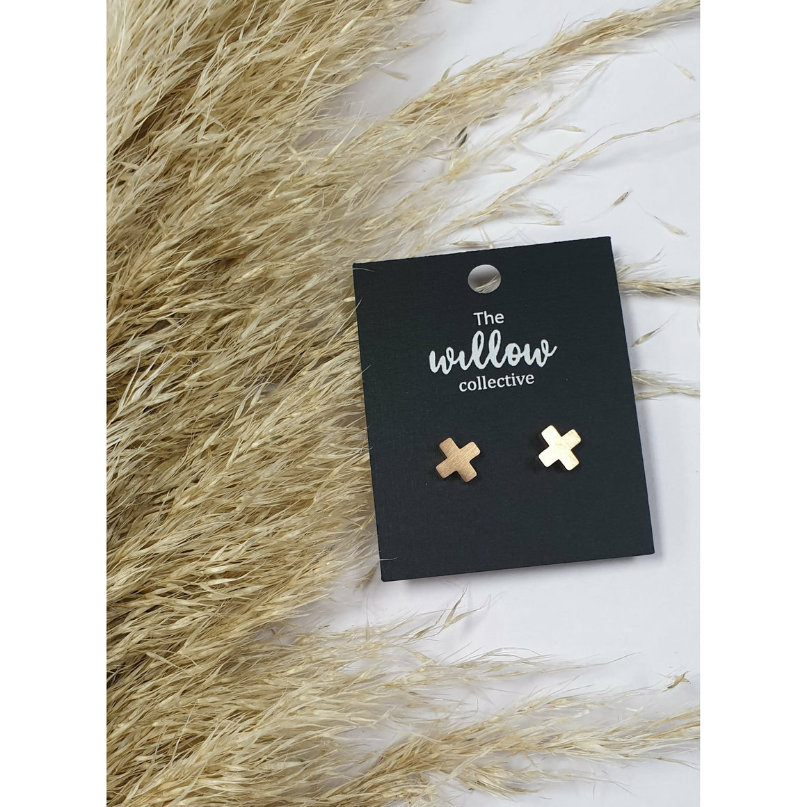 The Willow Collective - Cross Stud Earrings