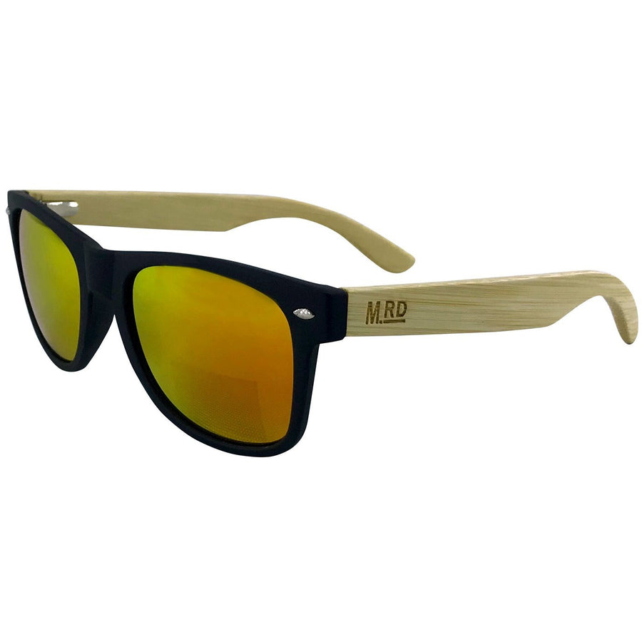 Wooden Sunnies - Matte Black w/ Yellow Lens