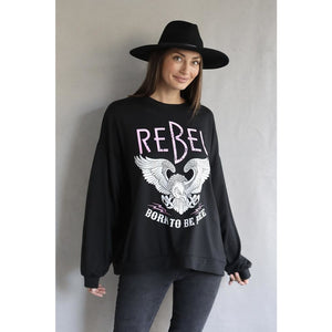 PRE ORDER Freedom Crew Neck Sweater - Black