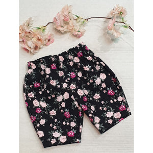 Trinity Pants - Black Pink Glitter Floral