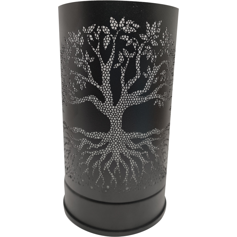 Black Tree of Life Touch Warmer Lantern