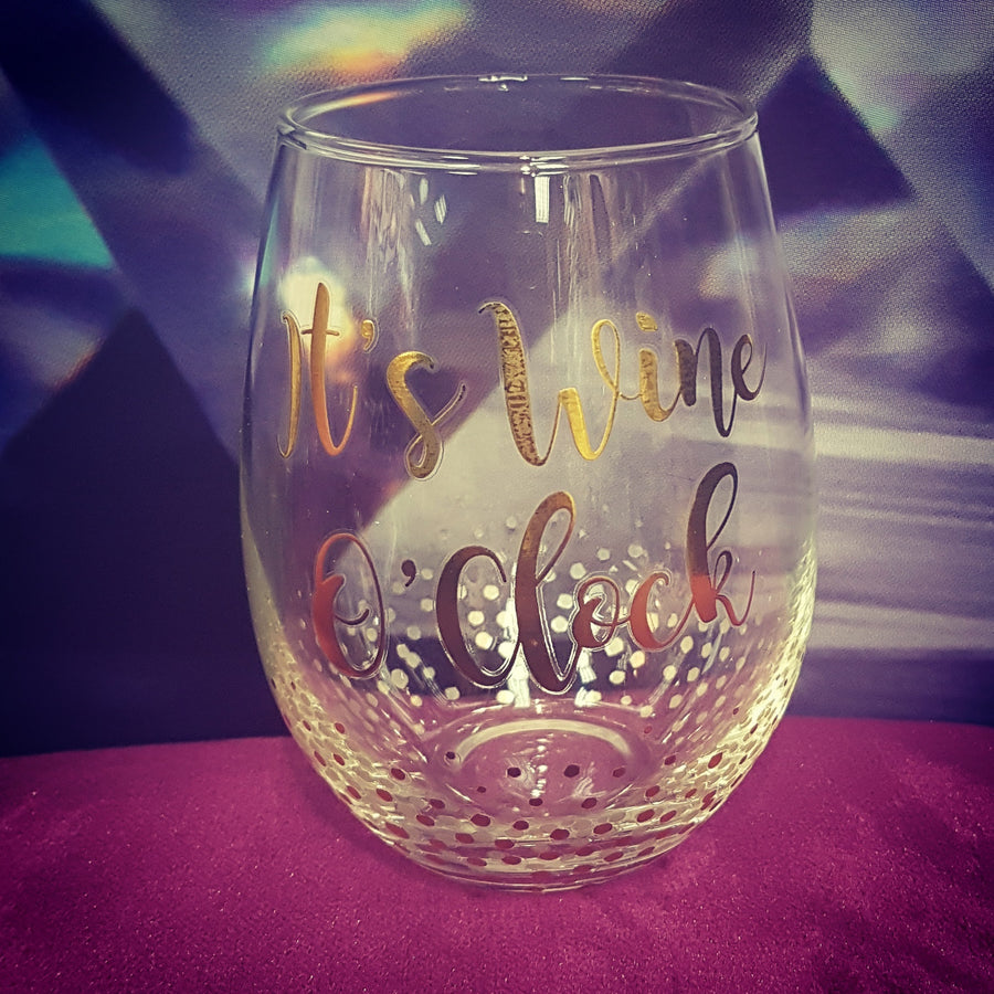 Gold Stemless Wine Glass