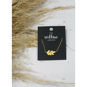 The Willow Collective - Leaf Necklace