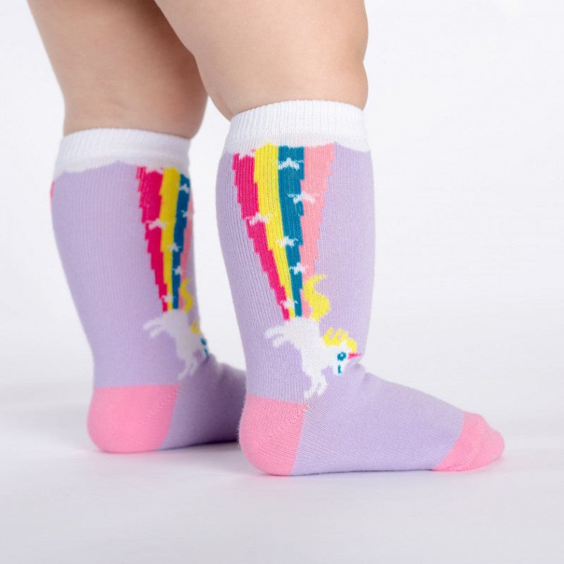 Toddler Knee Socks - Unicorn Rainbow Blast / Size 1-2