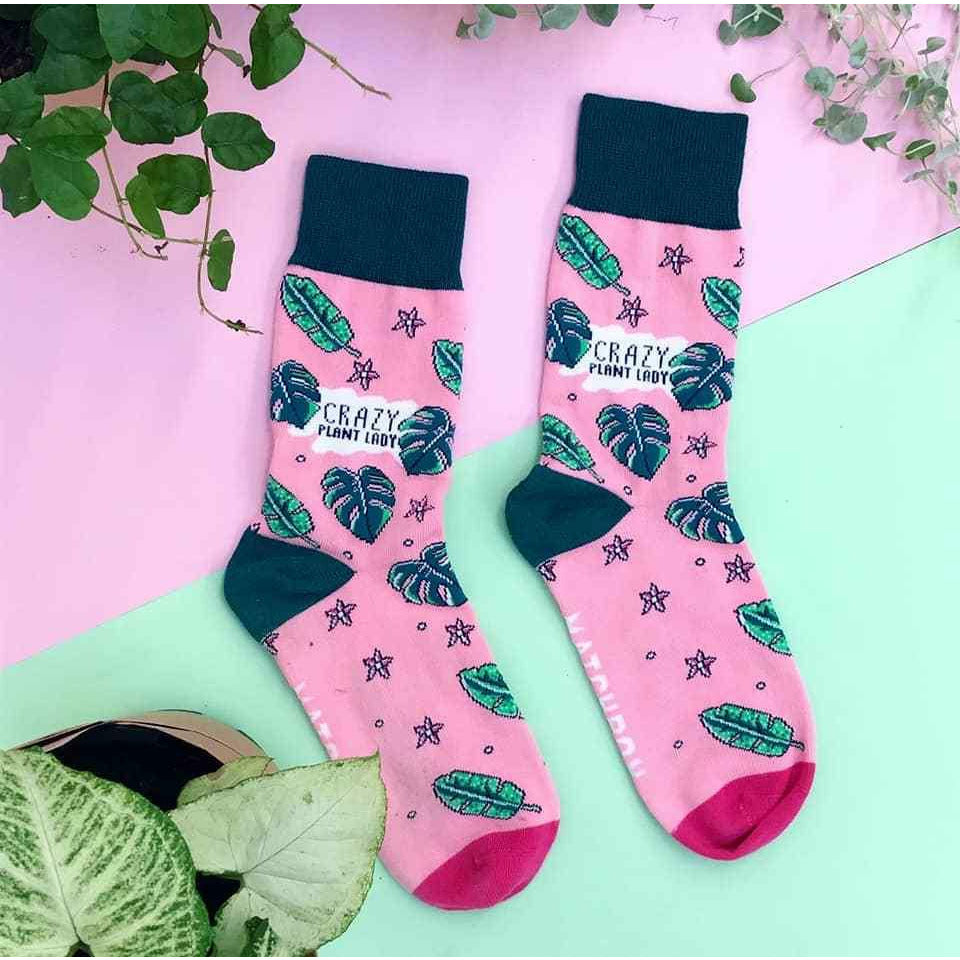 Crazy Plant Lady Socks