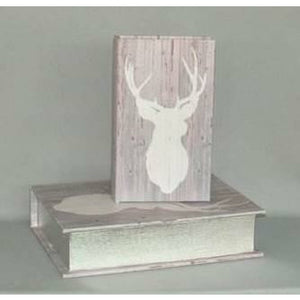 Stag Head Set of 2 Book Storage Box