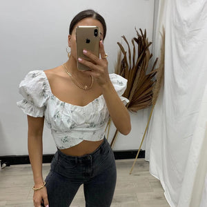 Layla Top - White Floral