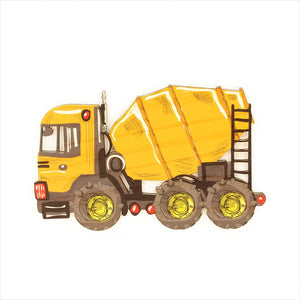 Cement Truck - Kids Pine Wall Art
