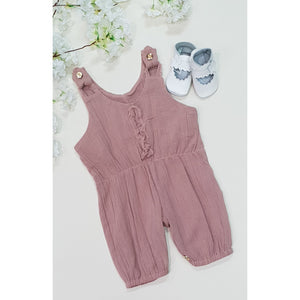 Ashleigh Overalls - Dusty Pink