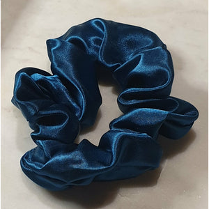 Scrunchie - Aqua Blue Satin
