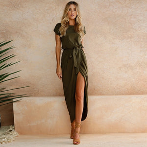 Sandi Tie Dress - Khaki