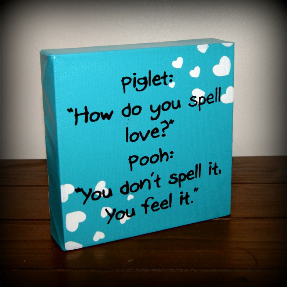 Piglet - how do you spell love